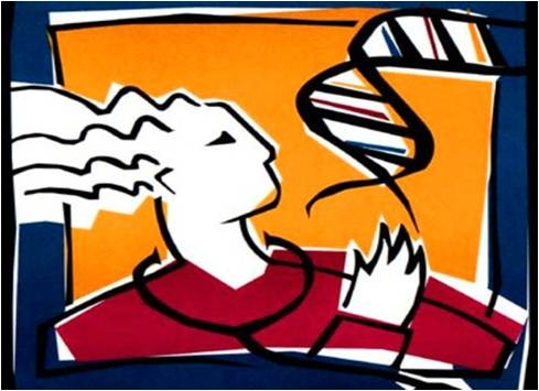 Image of Woman with DNA