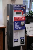 Library Print Card Dispenser